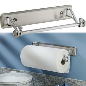 Bon Details About New York Kitchen Wall Mount Paper Towel Holder, Stainless  Steel Finish