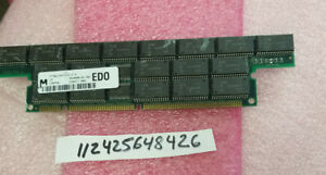128MB EDO  3.3v 168Pin DIMM Memory Module  Buffered ECC  INTEL MEMORY RAM  16X4