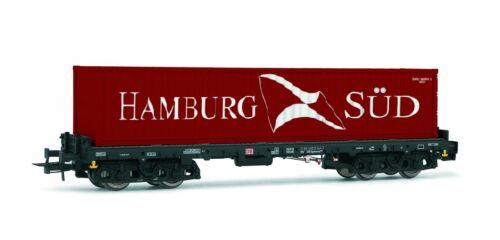 Rivarossi H0 HR6404 Vierachsiger Containertragwagen Bauart Sgmms738 der DB AG b