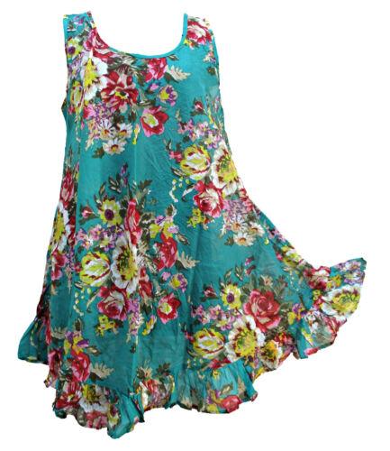 23 Colors Hippie Lagenlook Tunic Top Dress Boho Kaftan Size 18 20 22 24 26 28 30