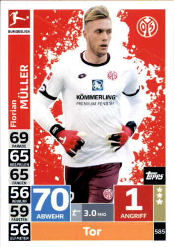 Topps match coronó extra 18//19 585-florian Müller