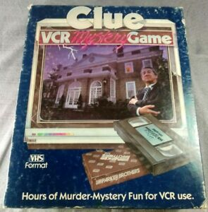 Vintage-1985-Clue-VCR-Mystery-Game-Murder-Detective-Board-Game-P4100