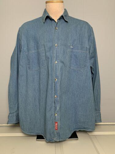 Vintage Marlboro Man Denim Long Sleeve Shirt Mens