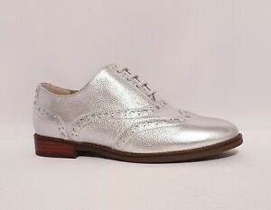 VIONIC-WISE-HADLEY-ORTHOTIC-OXFORD-BROGUE-SHOES-RRP-120-SILVER-LEATHER-WOMENS
