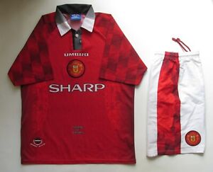 huge discount 24d1e 56626 Details about MANCHESTER UNITED 1996/1997 HOME FULL KIT FOOTBALL SHIRT  JERSEY SHORTS UMBRO TOP