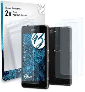 Bruni 2x Protective Film for Sony Xperia Z1 Compact Screen Protector