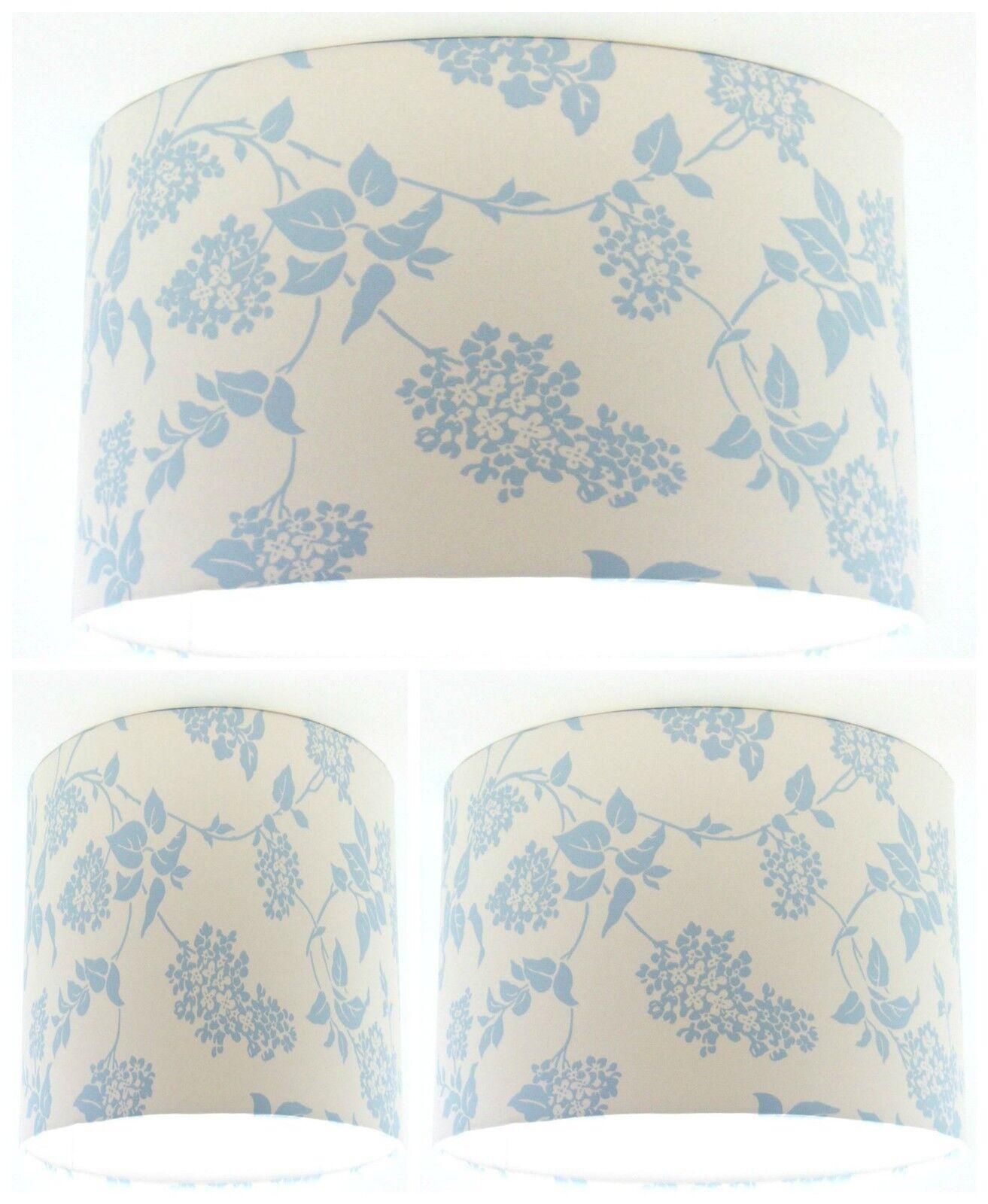 Hecho a mano pantalla con Laura Ashley Lila pálido Azul Wallpaper Cobalto Wallpaper Azul Gratis Envío 00de85