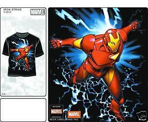 Iron-Man-Iron-Strike-Black-T-Shirt-New-Large-L