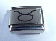 Taurus encanto italiano-Zodiac Bol signo abril mayo se adapta a 9 mm Arrancador pulseras
