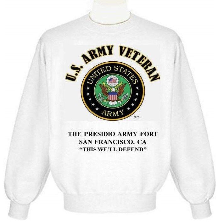 THE PRESIDIO ARMY FORT SAN FRANCISCO-CA ARMY EMBLEM SWEATSHIRT