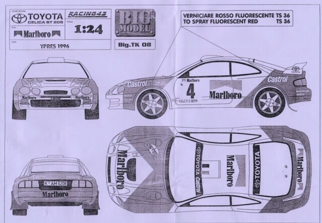 Transkit  Toyota Celica St205 Grifone Sanremo//Ciocco TK14 RACING43 1//24 rally