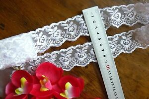 Organza-Embroidered-Lace-Edge-WHITE-40mm-wide-4-5-Metre-Length-Sunrise-ft23-FLT1