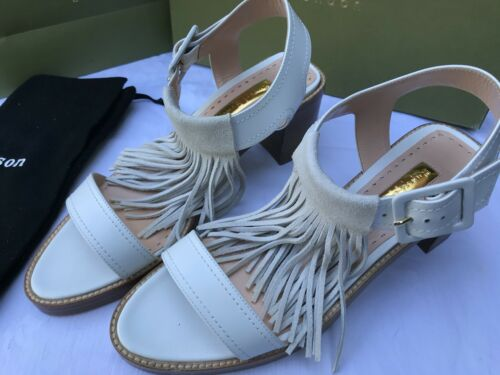 Rupert Sanderson Moina White Calf Leather Sandals EU 40.5 UK 7 BNIB Was £595 new
