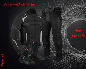 Motorbike-Racing-Suit-Waterproof-Motorcycle-Codura-Jacket-Trouser-Leather-Boots