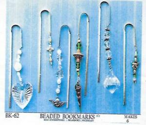 Bone Bead Amulet Beaded Bookmarks Beading Craft Project Kit Mac Enterprises VTG
