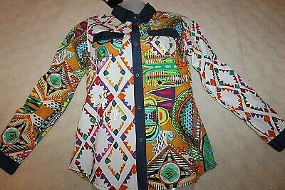Desigual Ragazza Camicia Bambini Top Shirt Blouse Cotone Mis. 146 152 Xs Nuovo-mostra Il Titolo Originale