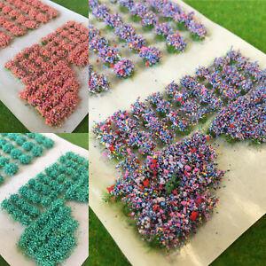 S-P-Mixed-Garden-Flowers-Model-Scenery-Railway-Dolls-House-Wargames-Base-Tufts