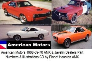 AMC-Parts-DVD-CD-68-69-70-AMX-Javelin-SST-restoration