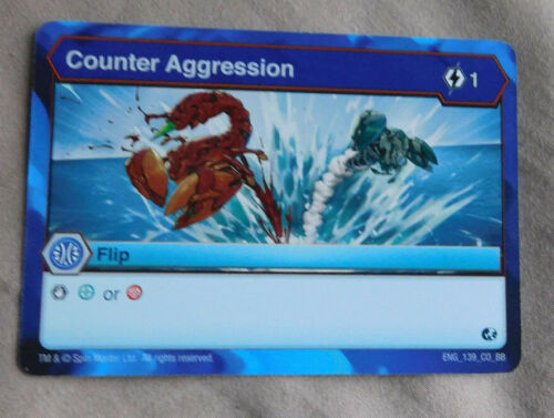 BAKUGAN Battle Brawlers Battle Planet COUNTER AGGRESSION FLIP Card 139/_CO/_BB
