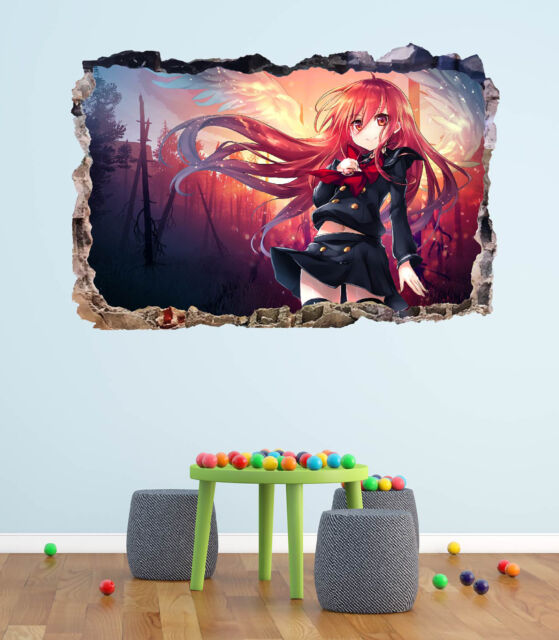 Sword Art Online Anime Manga 3D Smashed Wall Sticker Decal Home Art Mural J1254