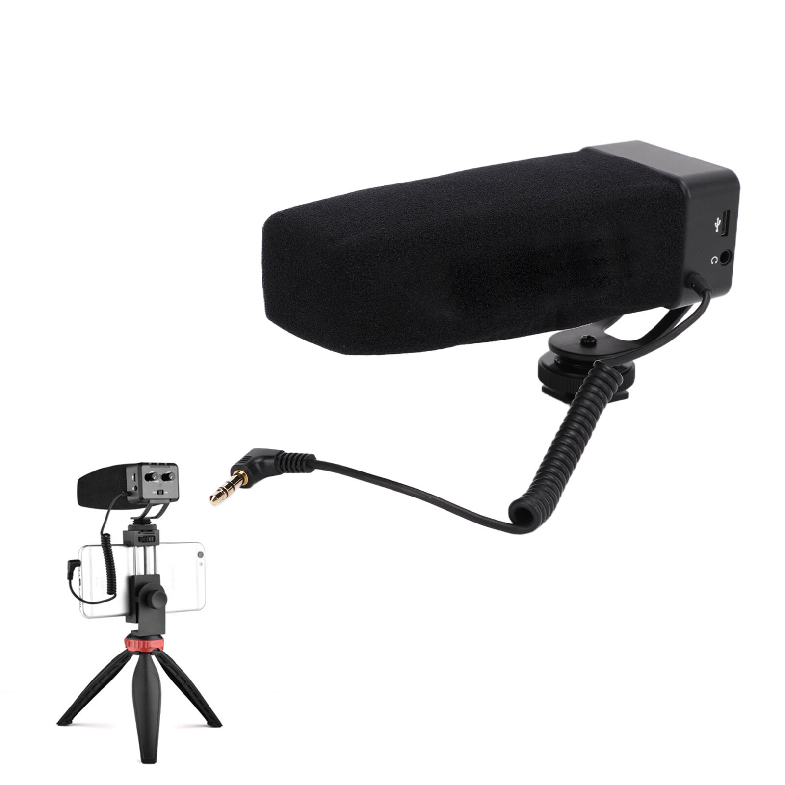 YELANGU Professional Camcorder Interview Microphone Video Photography Mic Gift