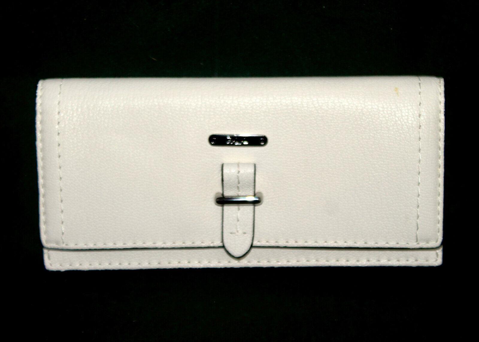 New LAUREN RALPH LAUREN Gladstone Slim Envelope Wallet Vanilla Leather