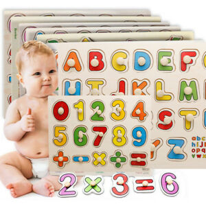 Wooden Animal Letter Puzzle Jigsaw Early Learning Educational Toys For Baby Kid