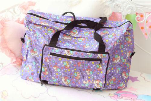 Little Twin Stars Violet Imperméable Sac à main Grand sac de voyage pli facile prendre