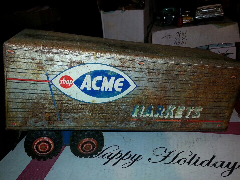 Vintage Pressé Acier ACME 1511 1899 marchés Semi Tracteur remorque Jouet lumar
