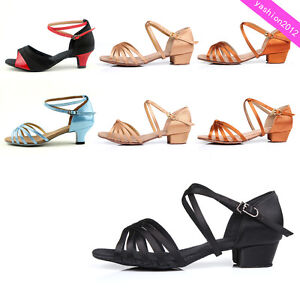 Brand-New-Women-Children-Girl-039-s-Ballroom-Latin-Tango-Dance-Shoes-heeled-Salsa-6