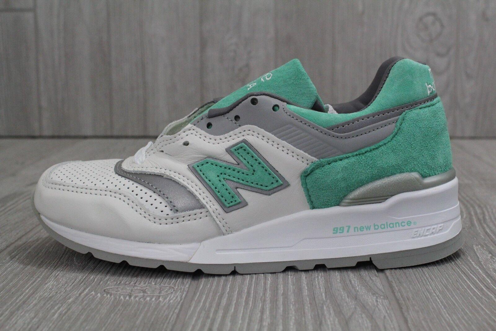 27 Rare New Mens DS New Balance 997 Mint Green White shoes Sz 5- 10.5 M997CMA