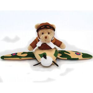 RAF-Spitfire-teddy-bear-in-a-plane-plush-pilot-bear-Royal-Air-Forces-Association