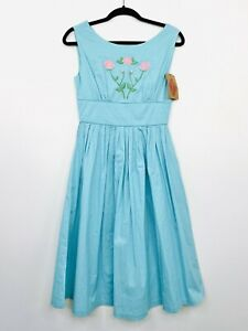 Revival-Dangerfield-Womens-Dress-Vintage-Style-50s-A-Line-Size-8-NWT