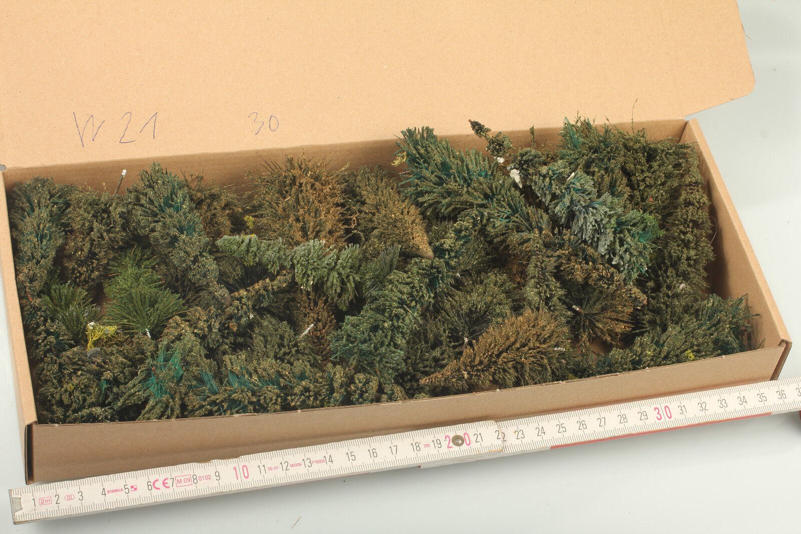 H0 TT Wald Mix  Tanne rustikal  Gebrauchsspuren Schmutz Gipsreste W