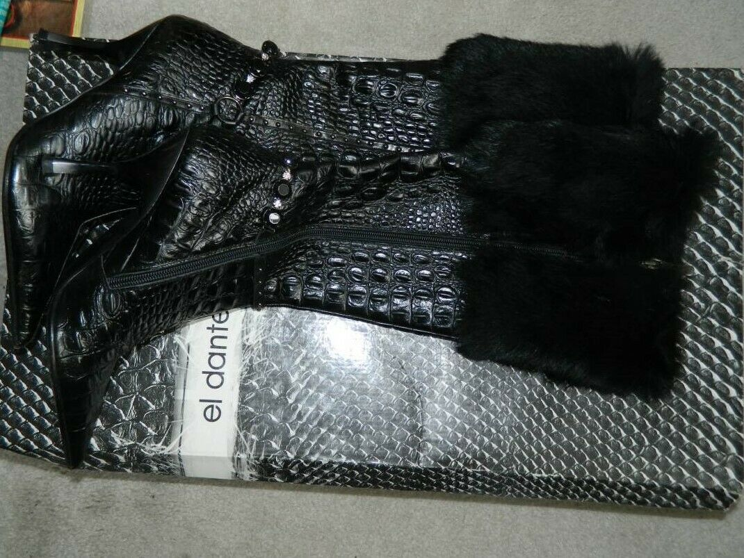 EL DANTES KNEE HIGH nero  stivali Sz 6.5