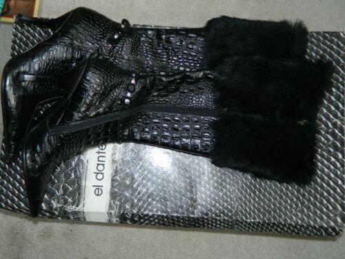 EL DANTES KNEE HIGH BLACK  BOOTS Sz 6.5