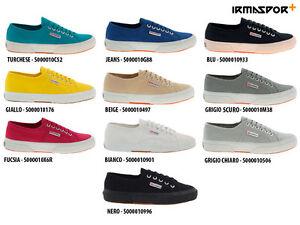 Superga-2750-cotu-classic-scarpe-ginnastica-tela-sneakers-casual-uomo-donna