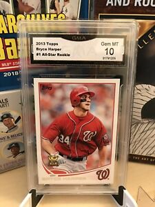 2013 TOPPS BRYCE HARPER #1 ALL-STAR ROOKIE GMA Gem MT 10