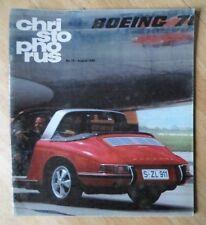 Revista Original Fábrica emitido Porsche Christophorus Folleto-Edición 76 1968