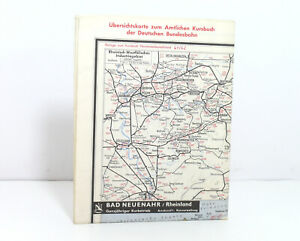 Outline Map Of Country Map to The Offical DB Railway Guide 1961/1962
