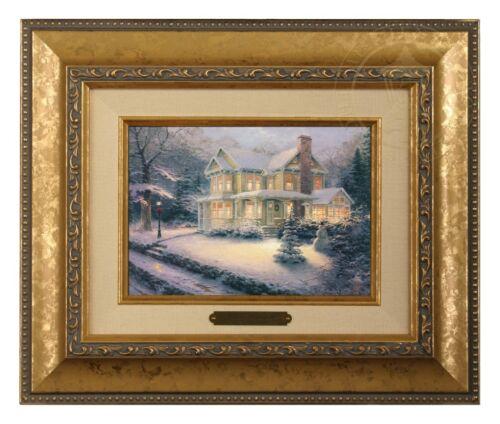 Gold Frame Thomas Kinkade Victorian Christmas III 5 x 7 Brushwork