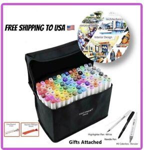 TOUCHNEW-30-40-60-80-168-Color-Artist-Dual-Head-Markers-Sketch-Art-Marker-Pen