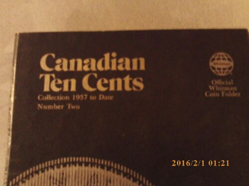 NEW STYLE Whitman Tri-Fold Blue Folder #9066 Canadian Ten Cent #2-1937-Date