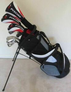 Mens Right Handed Golf Set Driver Wood Hybrid Irons Putter Bag Graphite Reg Flex