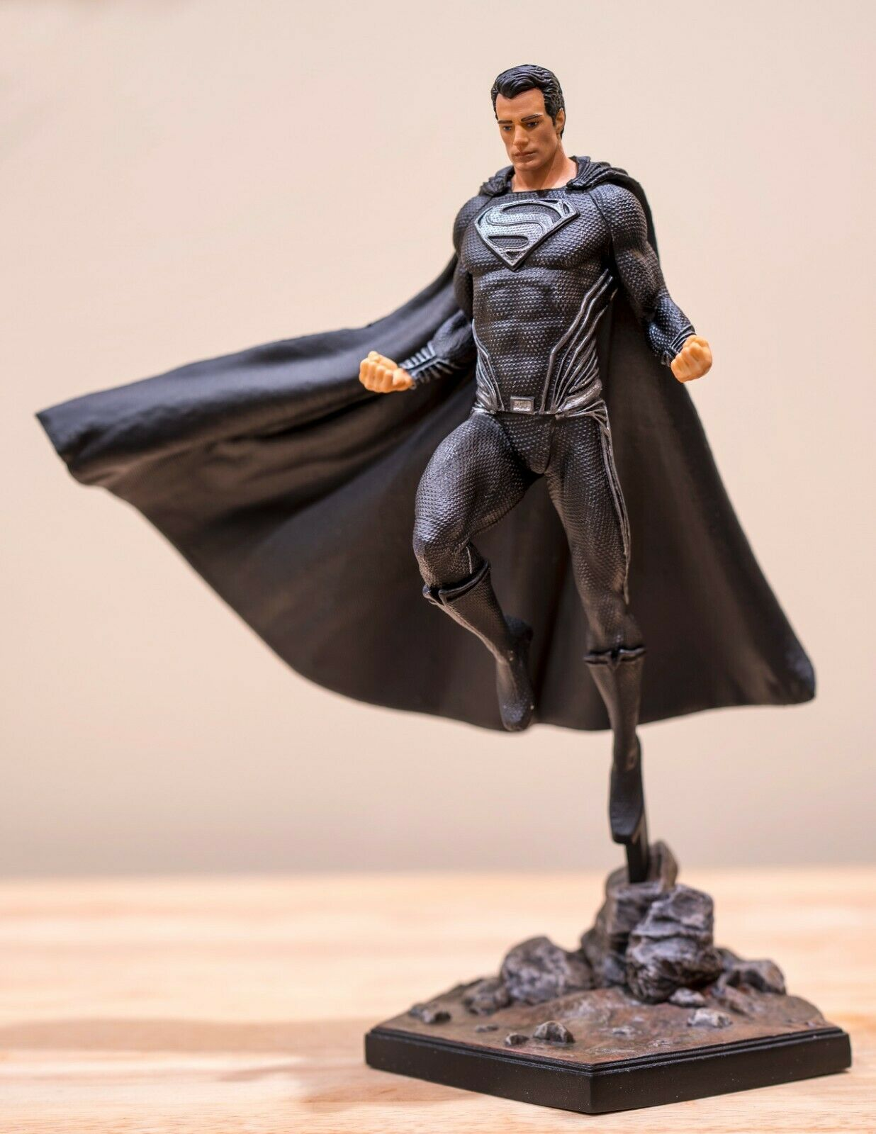 Custom Painted Iron Studios Black Suit Superman Justice League PVC Statue Figure on eBay thumbnail