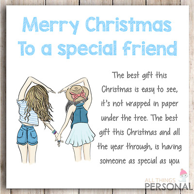 Christmas Card for Friend Special BFF Best Friends Bestie Colleague Poem  Verse 8438506010728 | eBay
