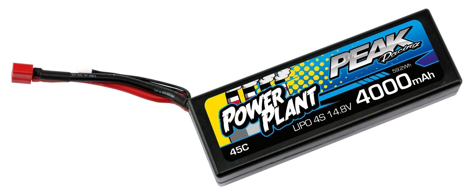 Kyosho Power Plant pek00554 Peak lipo 4s-14.8v-4000-45c - Deans 12awg