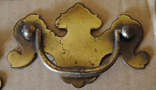 Queen Anne Bail Knocker Furniture Drop Pull Used Vintage Single Hole Knob