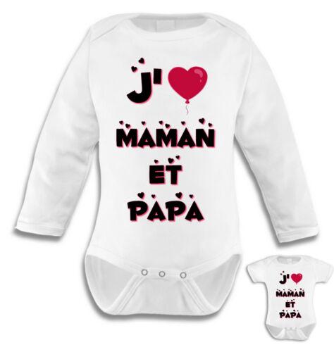 Body bébé J/'aime Maman et Papa