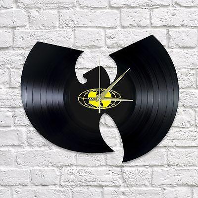 WU-TANG CLAN vinyl wall clock black